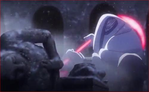 アニメBORUTO54話、彫像を破壊したキンシキ