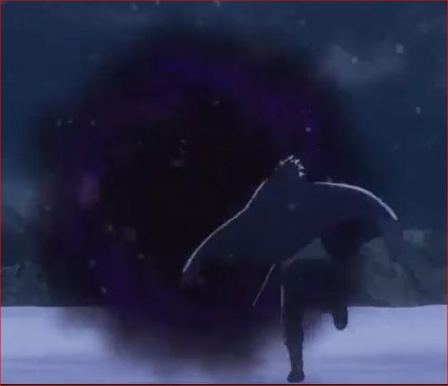 アニメBORUTO54話、輪廻眼で時空間移動するサスケ