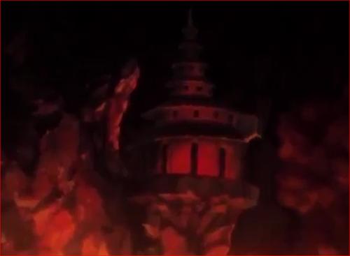 アニメBORUTO55話、カグヤの城