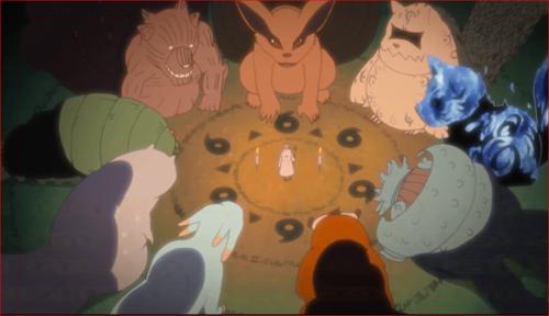 アニメNARUTO、六道仙人と別れを惜しむ尾獣たち