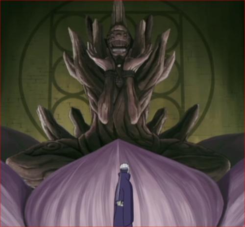 アニメNARUTO、外道魔像とトビ
