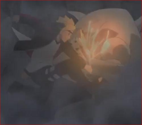 アニメNARUTO52話、影分身で攻撃を仕掛けるボルト