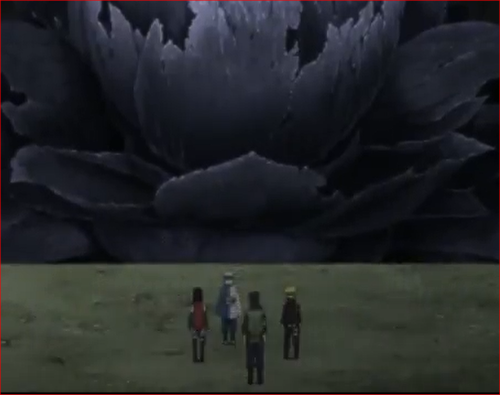 アニメNARUTO52話、神樹の麓に立つボルト達