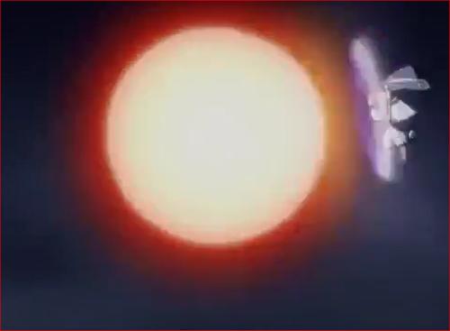アニメBORUTO55話、八尾の尾獣玉の直撃を受けるモモシキ