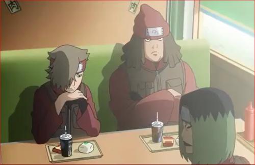 アニメBORUTO56話、ボルトたちに着目する玄武三兄弟