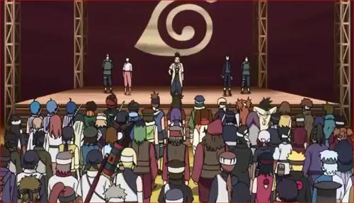 アニメBORUTO56話、中忍試験開会式