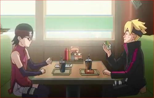アニメBORUTO56話、腹が減っては戦ができない