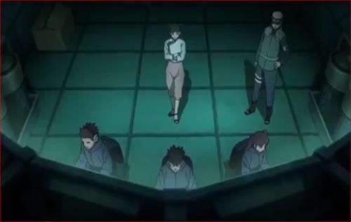 アニメBORUTO57話、モニタールームで対戦の様子を観察するテンテン