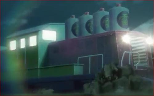 アニメBORUTO57話、木ノ葉の里へ向かう砂影の雷車