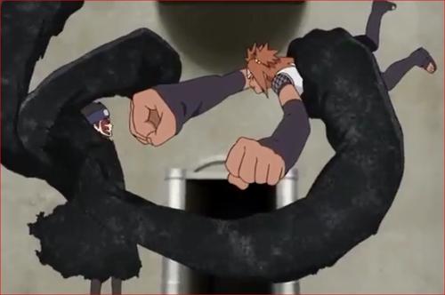 アニメBORUTO59話、シンキに捕縛されるチョウチョウ