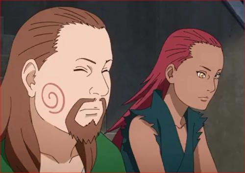 アニメBORUTO59話、娘の様子をじっと見守るカルイとチョウジ