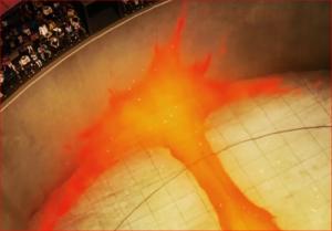 アニメBORUTO60話、サラダの豪火球の威力