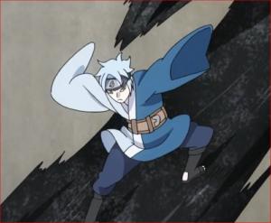アニメBORUTO60話、シンキの攻撃をかわすミツキ