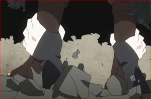 アニメBORUTO60話、地中からミツキの腕が!