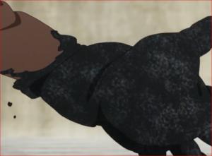 アニメBORUTO60話、砂鉄で腕を覆うシンキ