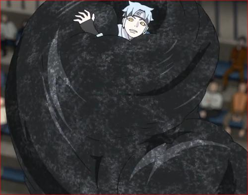 アニメBORUTO60話、砂鉄に呑み込まれるミツキ