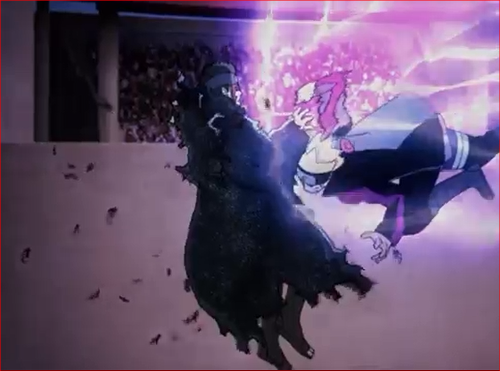 アニメBORUTO61話、シンキに一撃をくらわすボルト