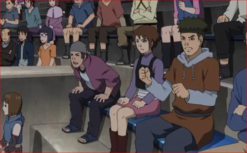 アニメBORUTO61話、観客席からは観衆の罵声が