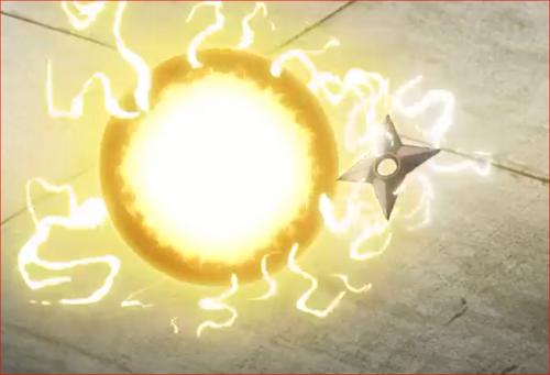 アニメBORUTO61話、雷球にタッチ!