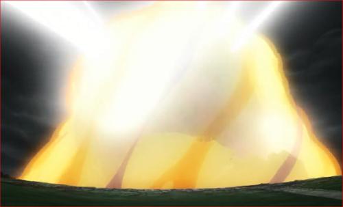 アニメBORUTO62話、さく裂する尾獣玉を包み切るナルト