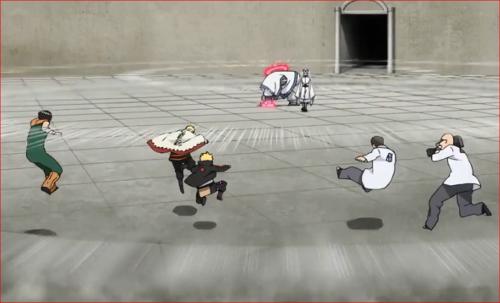 アニメBORUTO62話、キンシキの一撃で吹き飛ぶ一同