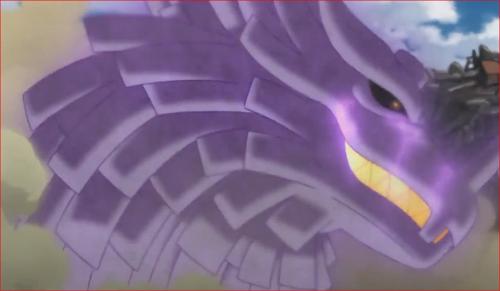 アニメBORUTO62話、サスケの須佐能乎のガード