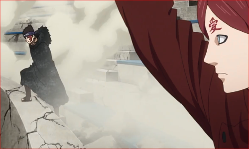アニメBORUTO62話、シンキに彼我の戦力をはかれと諭す我愛羅