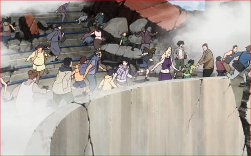 アニメBORUTO62話、ヒマワリを連れるヒナタ