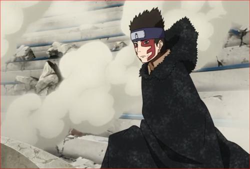 アニメBORUTO62話、モモシキに戦闘を挑もうとするシンキ
