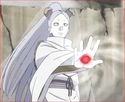 アニメBORUTO62話、モモシキの赤い輪廻眼