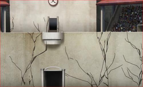 アニメBORUTO62話、会場全体に走る亀裂