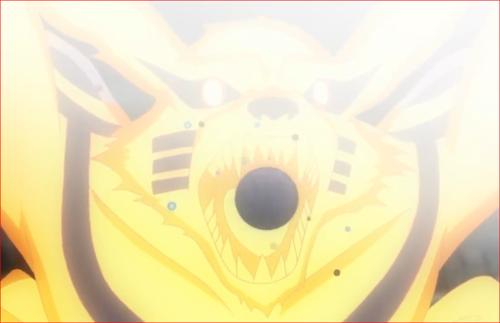 アニメBORUTO62話、尾獣玉を呑み込む九喇嘛