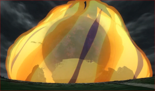 アニメBORUTO62話、尾獣玉を封印するナルトのチャクラ