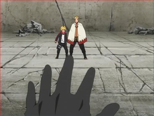 アニメBORUTO62話、左手の輪廻眼で攻撃を!