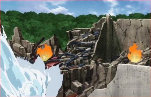 アニメBORUTO62話、彼方此方で里人を守るナルトの影分身
