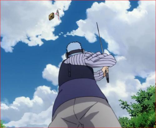 アニメBORUTO62話、我愛羅の術で長十郎を攻撃するウラシキ
