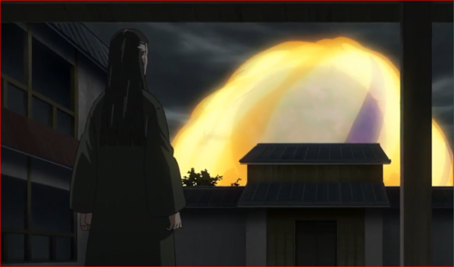 アニメBORUTO62話、日向宗家で見守るヒアシ