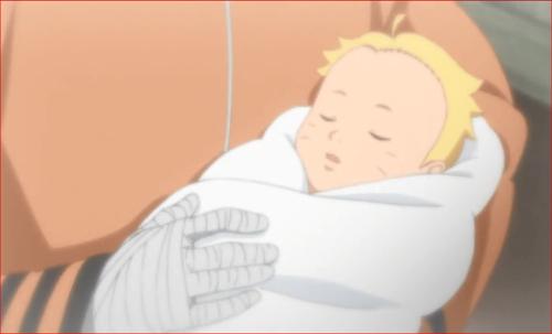 アニメBORUTO62話、生まれたてのボルト