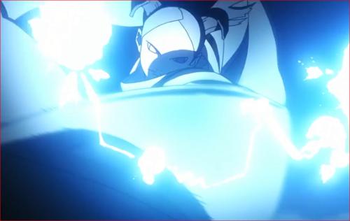 アニメBORUTO62話、雷遁を繰り出すモモシキ