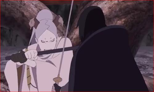 劇場版ボルト、サスケと刃を交えるモモシキ