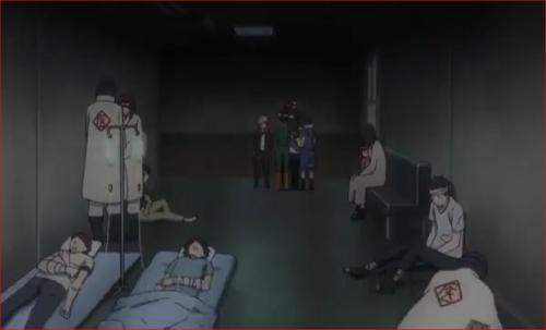BORUTO63話、病院の廊下にはたくさんのけが人が…