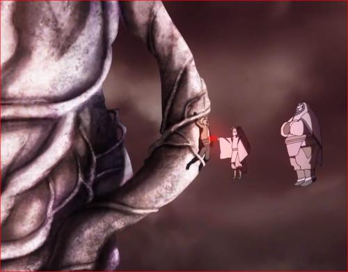 アニメBORUTO64話、ナルトのチャクラを奪うモモシキ