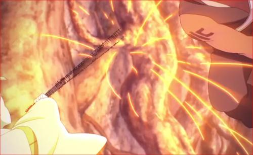 アニメBORUTO64話、体術で攻撃を仕掛けます