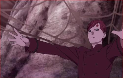 アニメBORUTO64話、砂の網でモモシキの行動をけん制する我愛羅