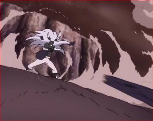 アニメBORUTO65話、サスケに外道の棒?を撃ち込むモモシキ