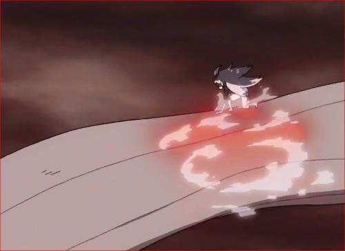 アニメBORUTO65話、サスケを捕獲した犬の首にチャクラを流し込むモモシキ