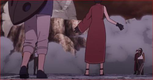 アニメBORUTO65話、ナルトとサスケの元に集まる五影たち
