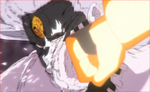 アニメBORUTO65話、ナルトのパンチをモロに食らいます