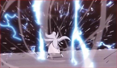 アニメBORUTO65話、ナルトの影分身の変化で無数に増殖する風魔手裏剣