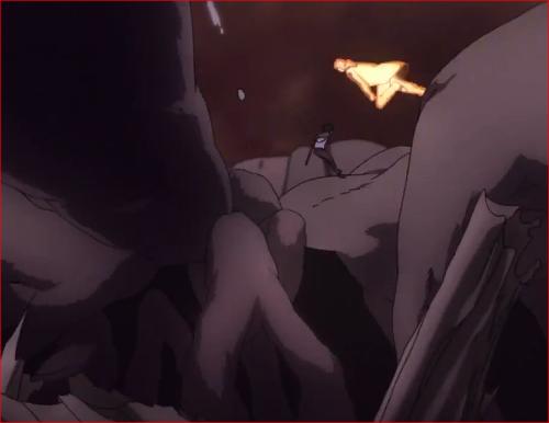 アニメBORUTO65話、モモシキを追撃するナルトとサスケ